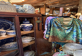 Antique Crockery And Cloth